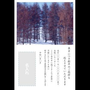 年賀状印刷デザインテンプレート : 0030