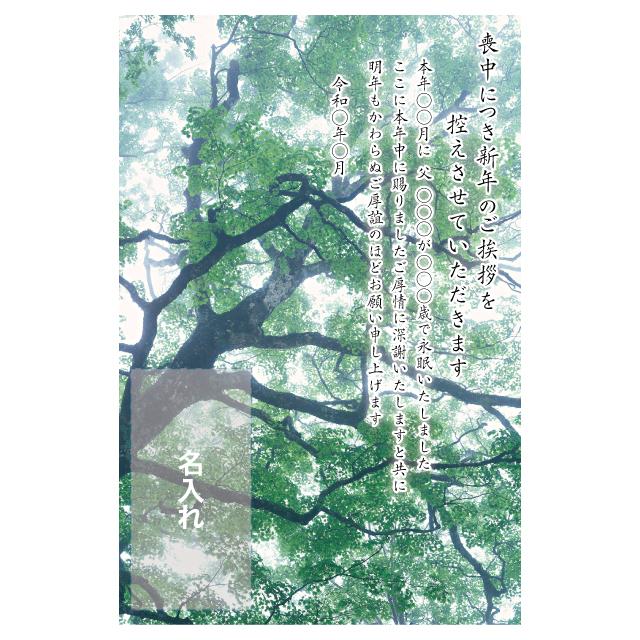 年賀状印刷デザインテンプレート:0038