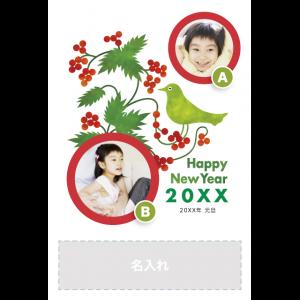 年賀状印刷デザインテンプレート : 0443