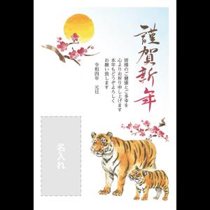 年賀状印刷デザインテンプレート : 3190