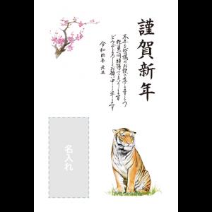 年賀状印刷デザインテンプレート : 4030