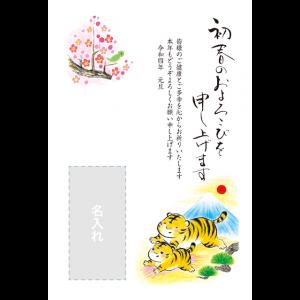 年賀状印刷デザインテンプレート : 5020