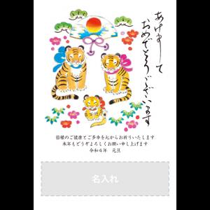 年賀状印刷デザインテンプレート : 5065