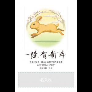 年賀状印刷デザインテンプレート : 6033